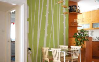 masking tape wall pattern