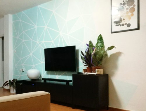 Geometric Ombre Accent wall