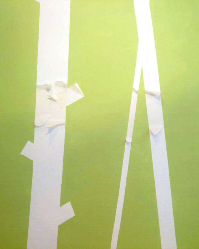 Accent wall with masking tape