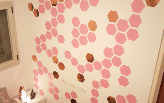 DIY wall stickers from vinyl wallpaper