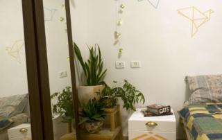 DIY washi tape origami bird wall art