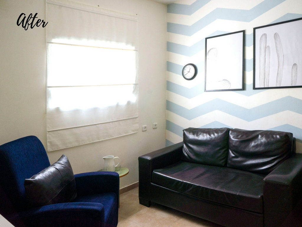 DIY zig zag chevron accent wall