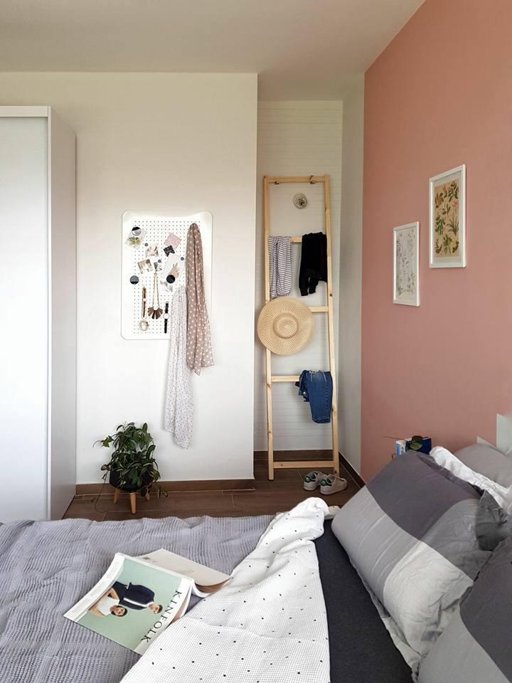 IVAR IKEA hack. On a budget DIY clothes rack ladder.