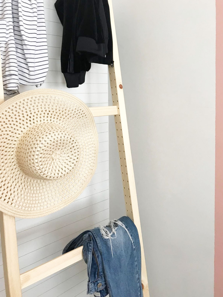 Ikea Hack Clothes Rack Ladder With Ivar On A Budget Diy Project