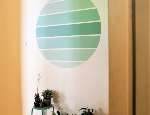 Circle Ombre Wall Painting