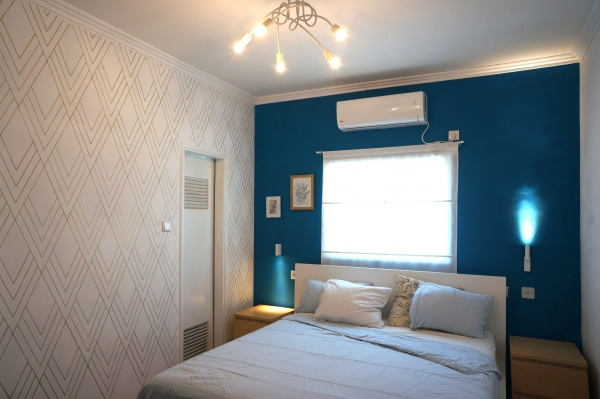 Bedroom Blue Accent Wall